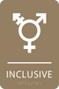 Light Brown Inclusive Gender Neutral Bathroom Sign