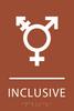 Orange Inclusive Gender Neutral Bathroom Sign