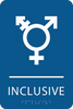 Royal Inclusive Gender Neutral Bathroom Sign
