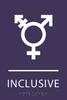 Violet Inclusive Gender Neutral Bathroom Sign