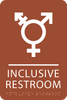 Orange Inclusive Restroom ADA Sign