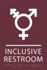 Burgundy Inclusive Restroom ADA Sign