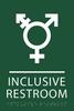Green Inclusive Restroom ADA Sign