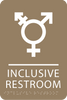 Lt Brown Inclusive Restroom ADA Sign