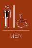 Men's Accessible ADA Sign