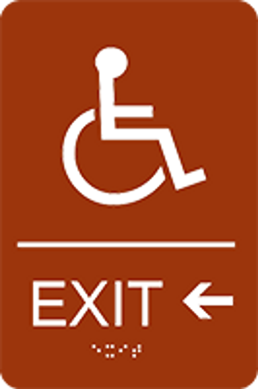 Exit Left ADA Sign