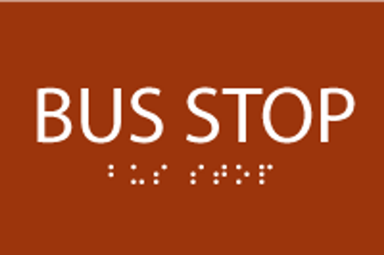ADA Bus Stop Sign