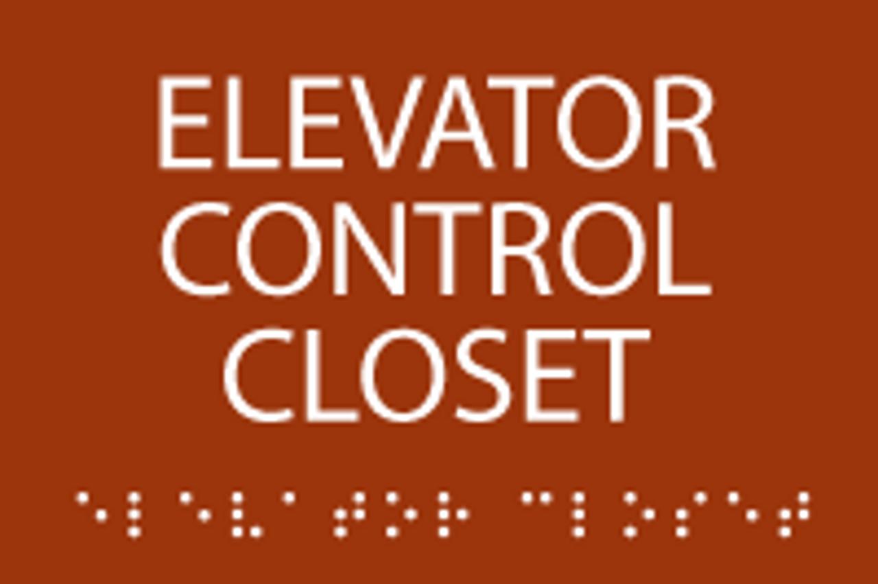 ADA Elevator Control Closet Sign