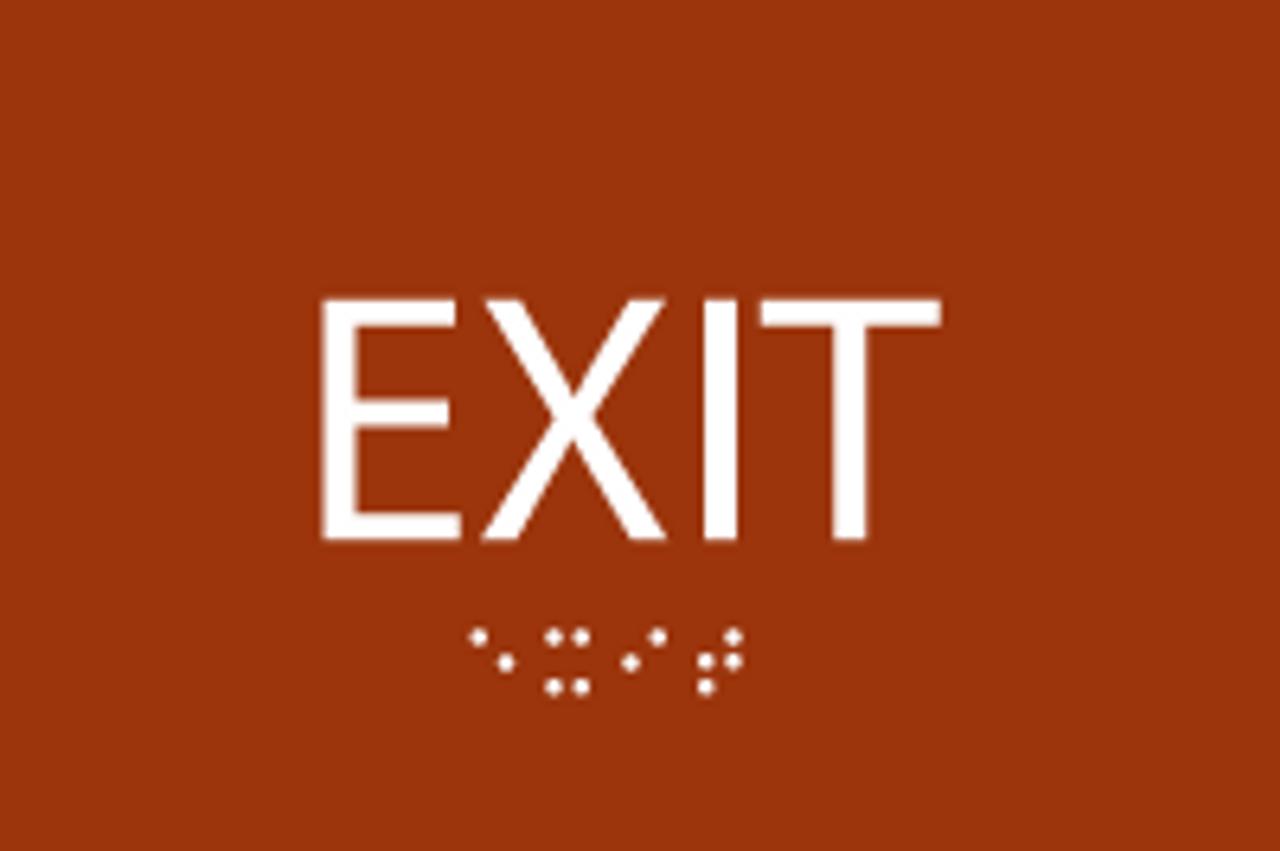 ADA Exit Sign