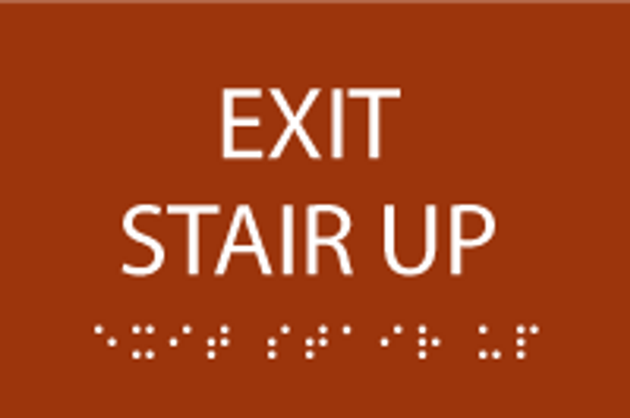 Exit Stair Up ADA Sign