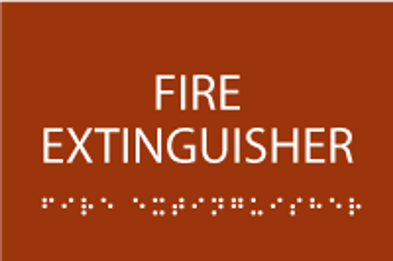 ADA Fire Extinguisher Sign