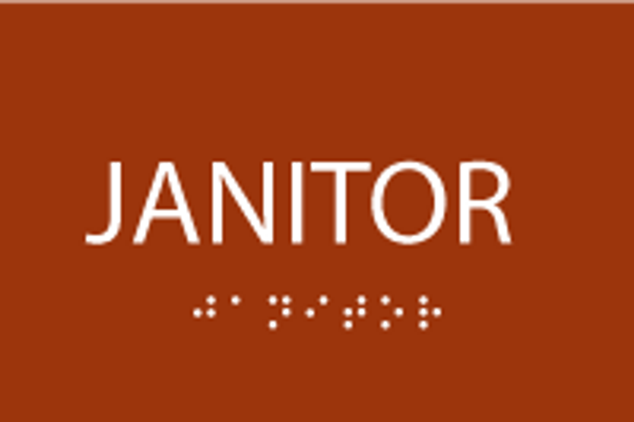 ADA Janitor Sign