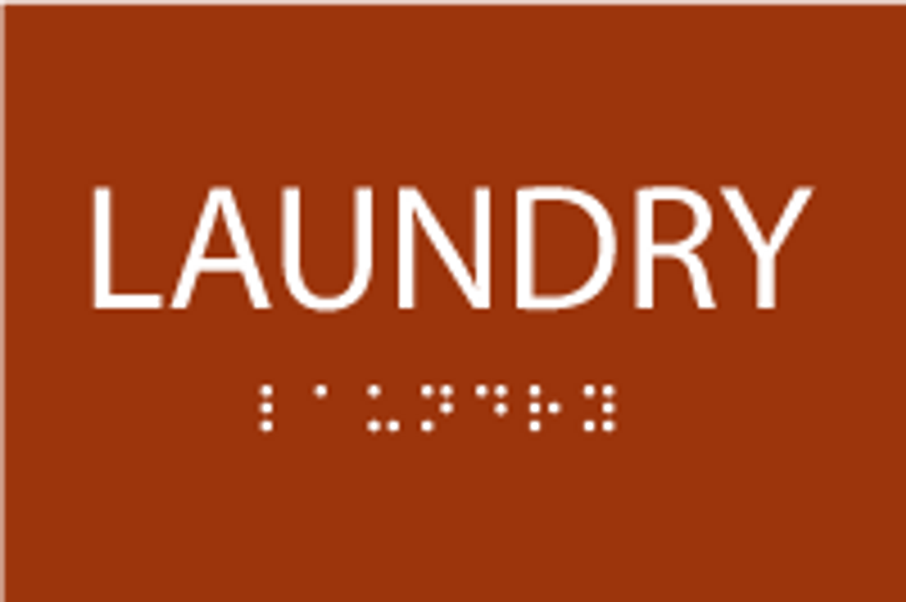 ADA Laundry Sign