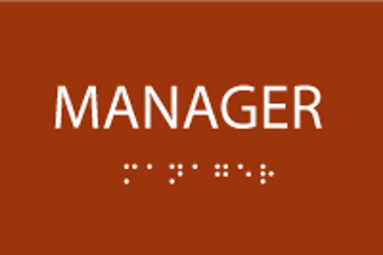 Manager ADA Sign with Braille