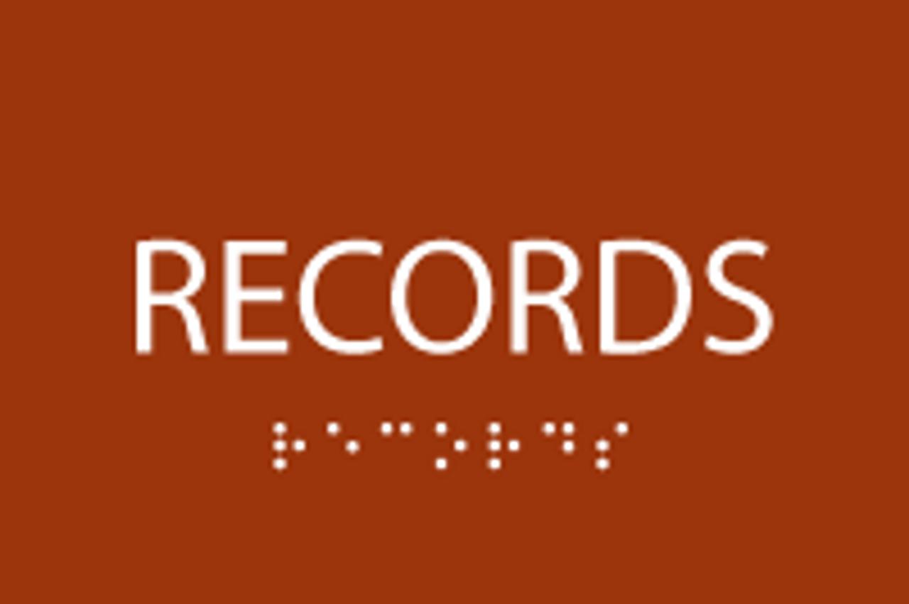 ADA Records Sign