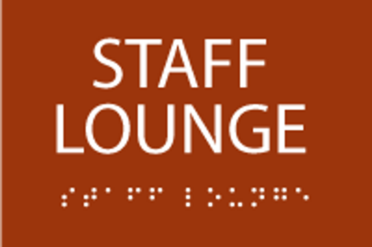 ADA Staff Lounge Sign