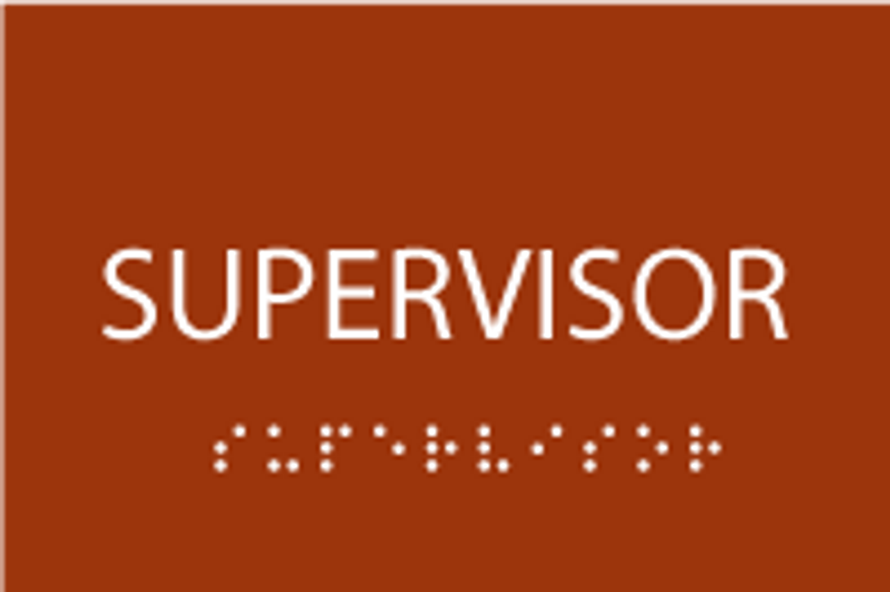 Supervisor ADA Sign