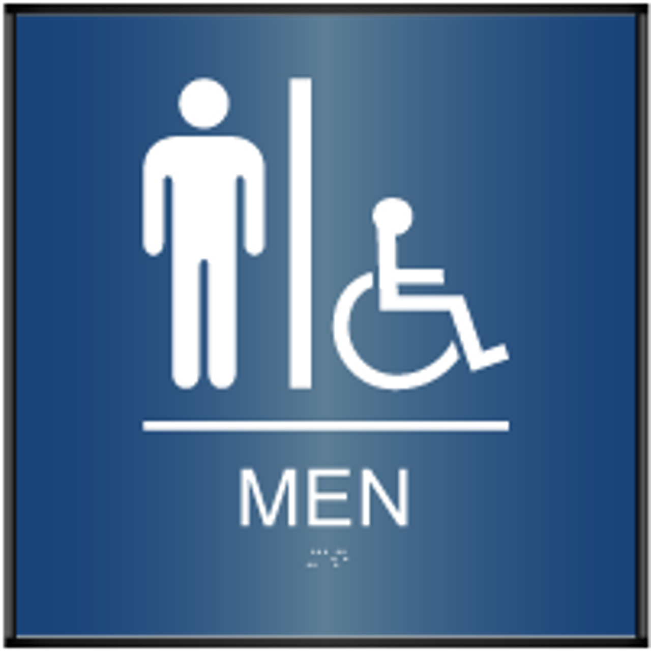 Curved ADA Men's Accessible Restroom Sign