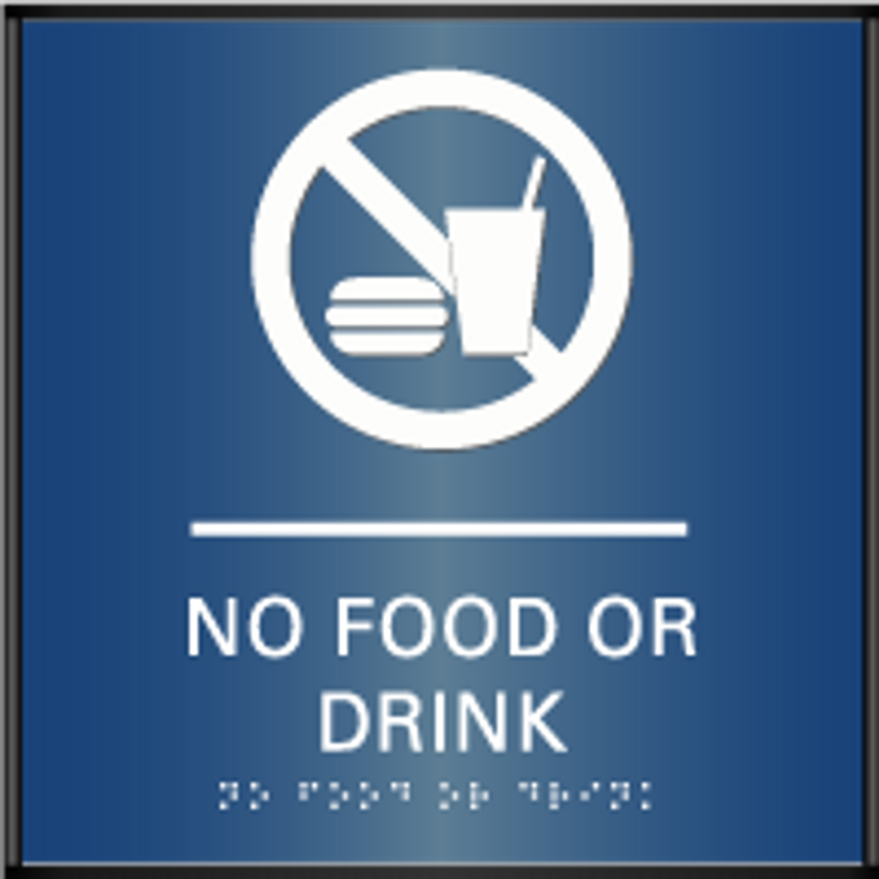 Curved ADA No Food or Drink Sign