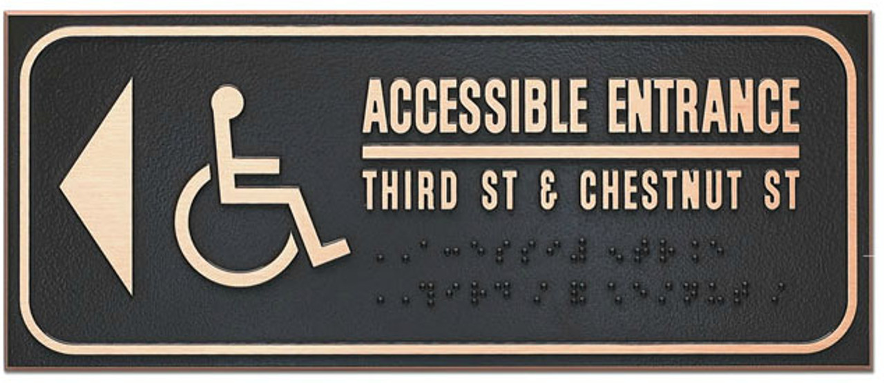 Unisex Accessible ADA Restroom Sign - Metal Plaque