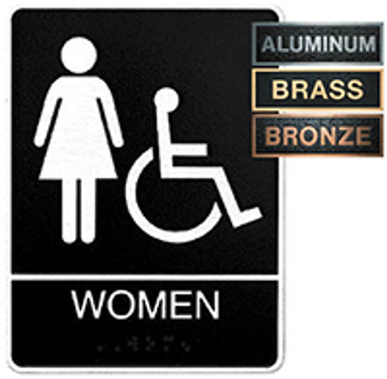 Women's Accessible ADA Metal Plaque