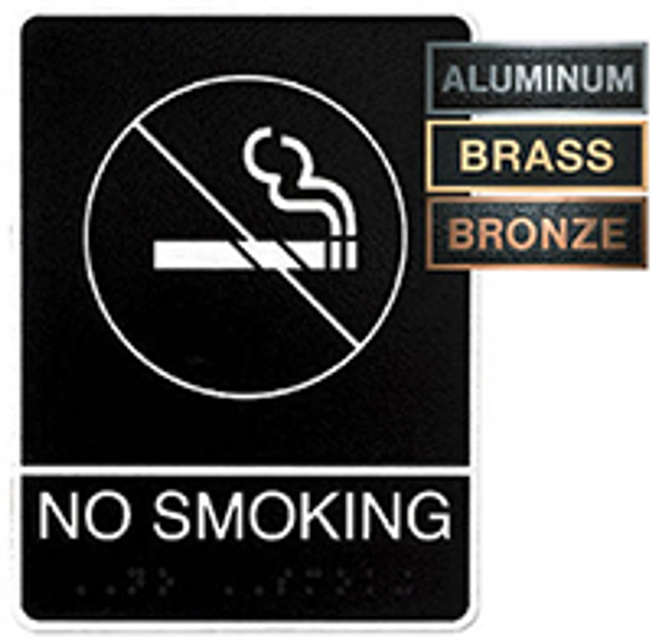 No Smoking Metal ADA Plaque
