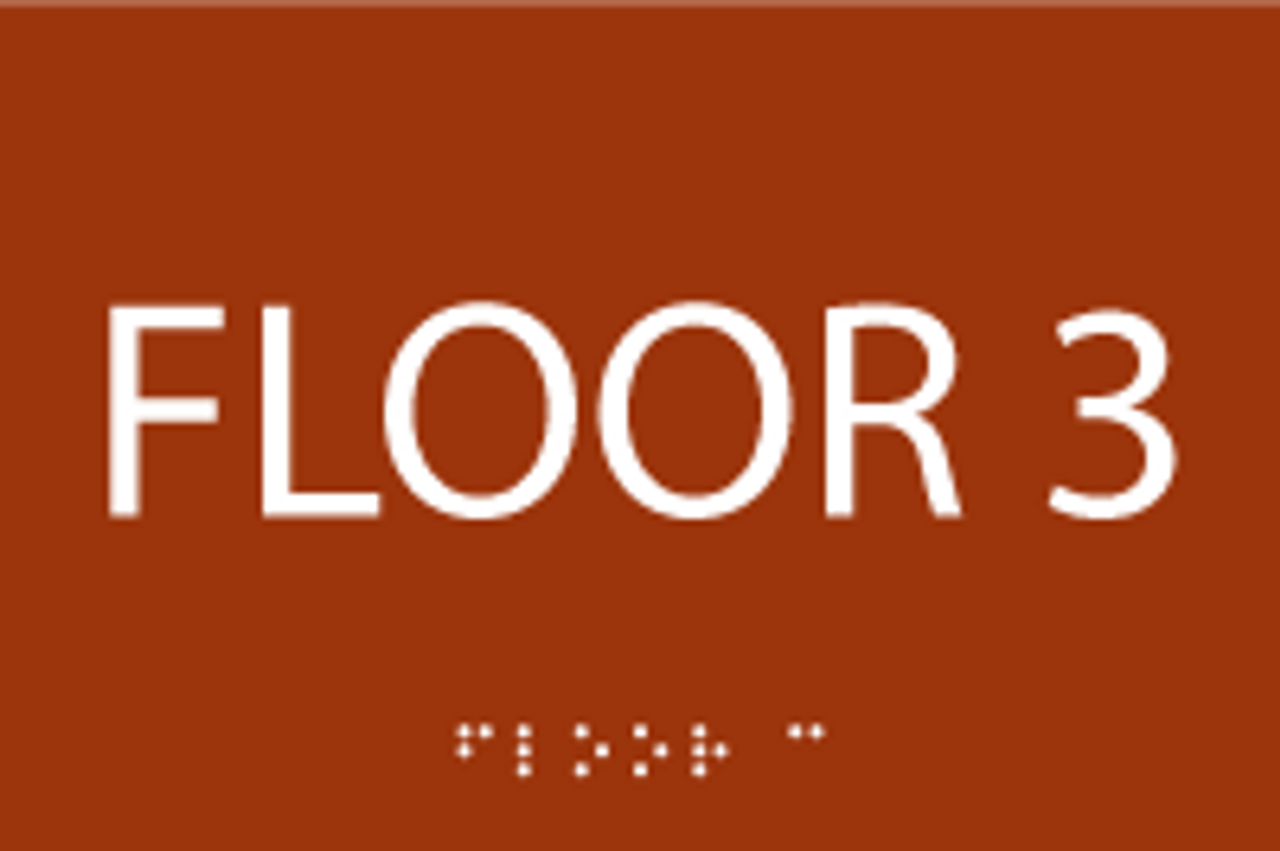 ADA Floor 3 Sign