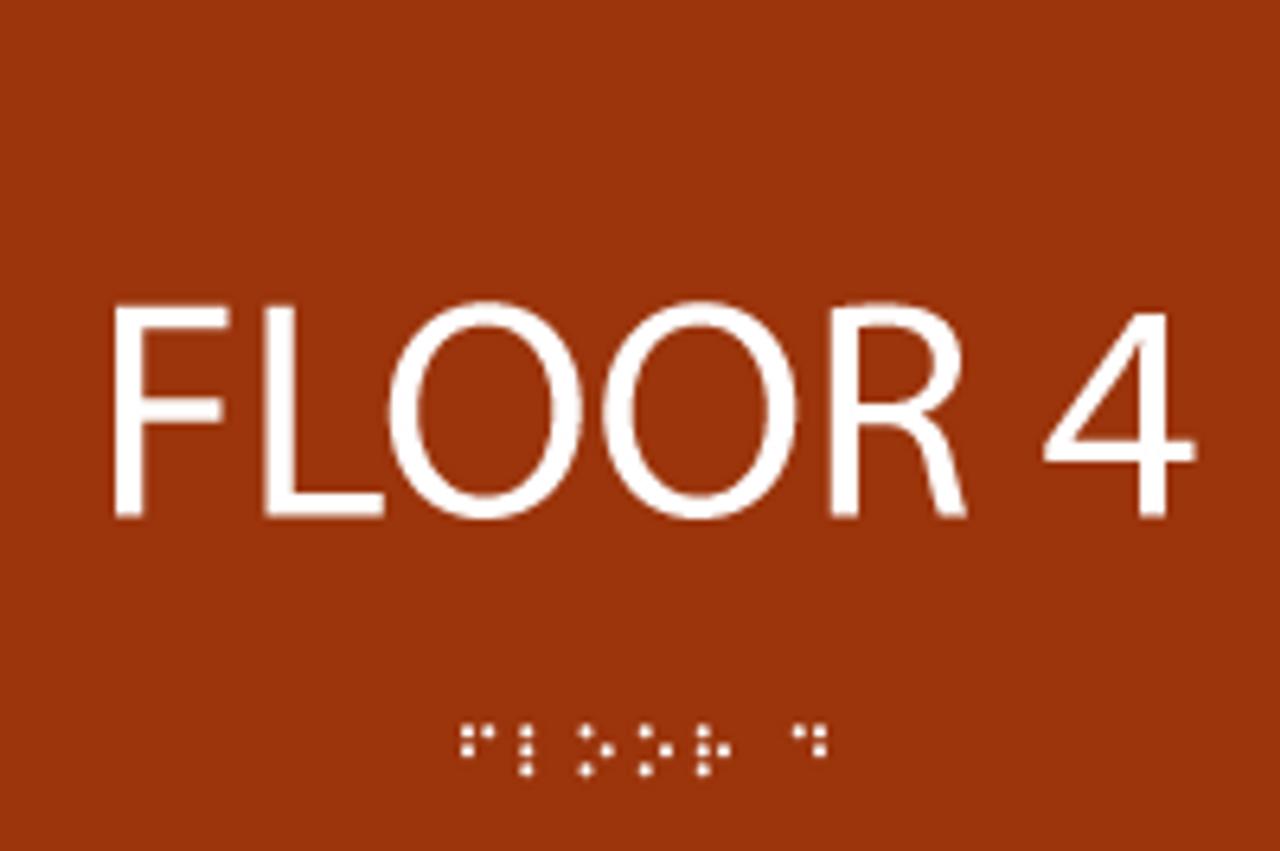 Floor 4 ADA Sign