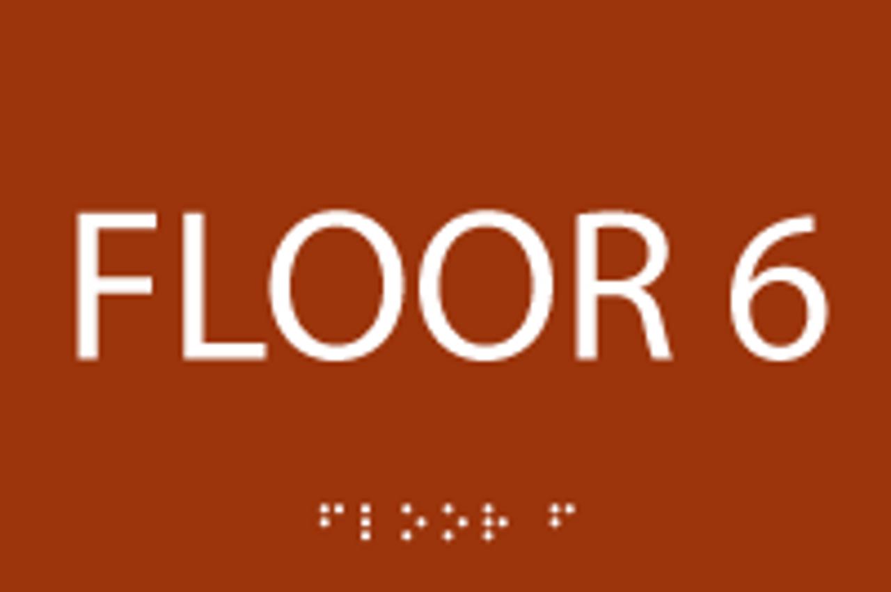 Sixth Floor ADA Sign