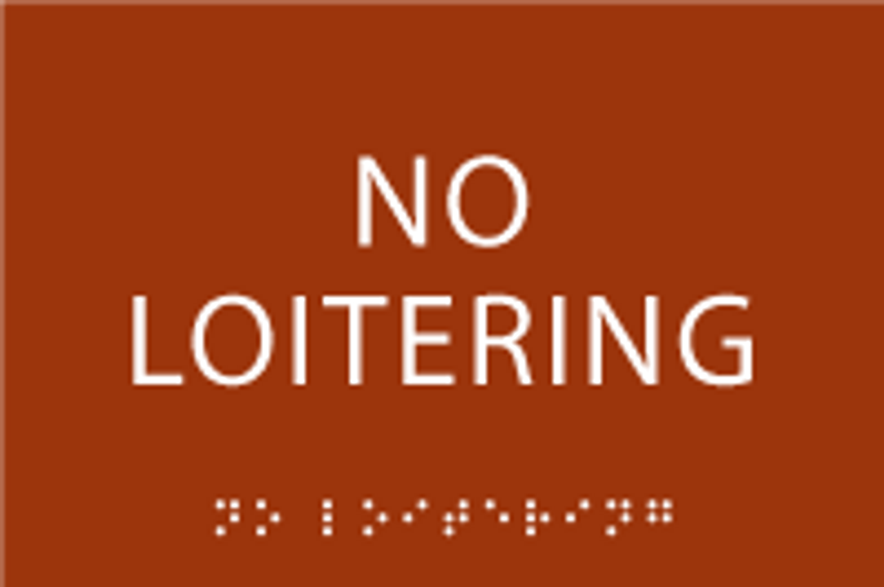 No Loitering ADA Sign