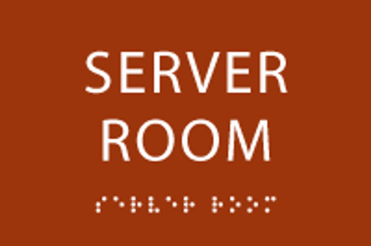 ADA Server Room Sign