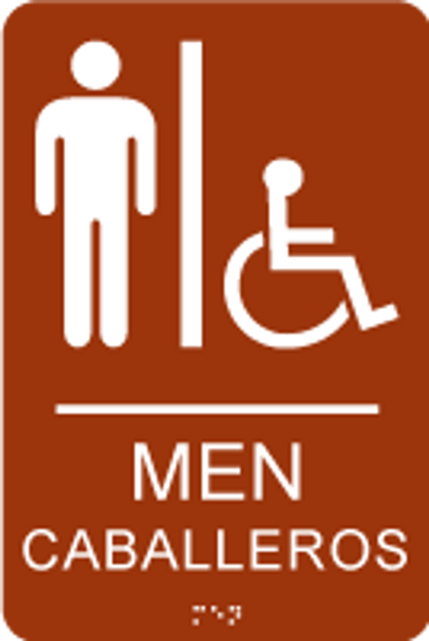 Men's Spanish ADA Restroom Sign