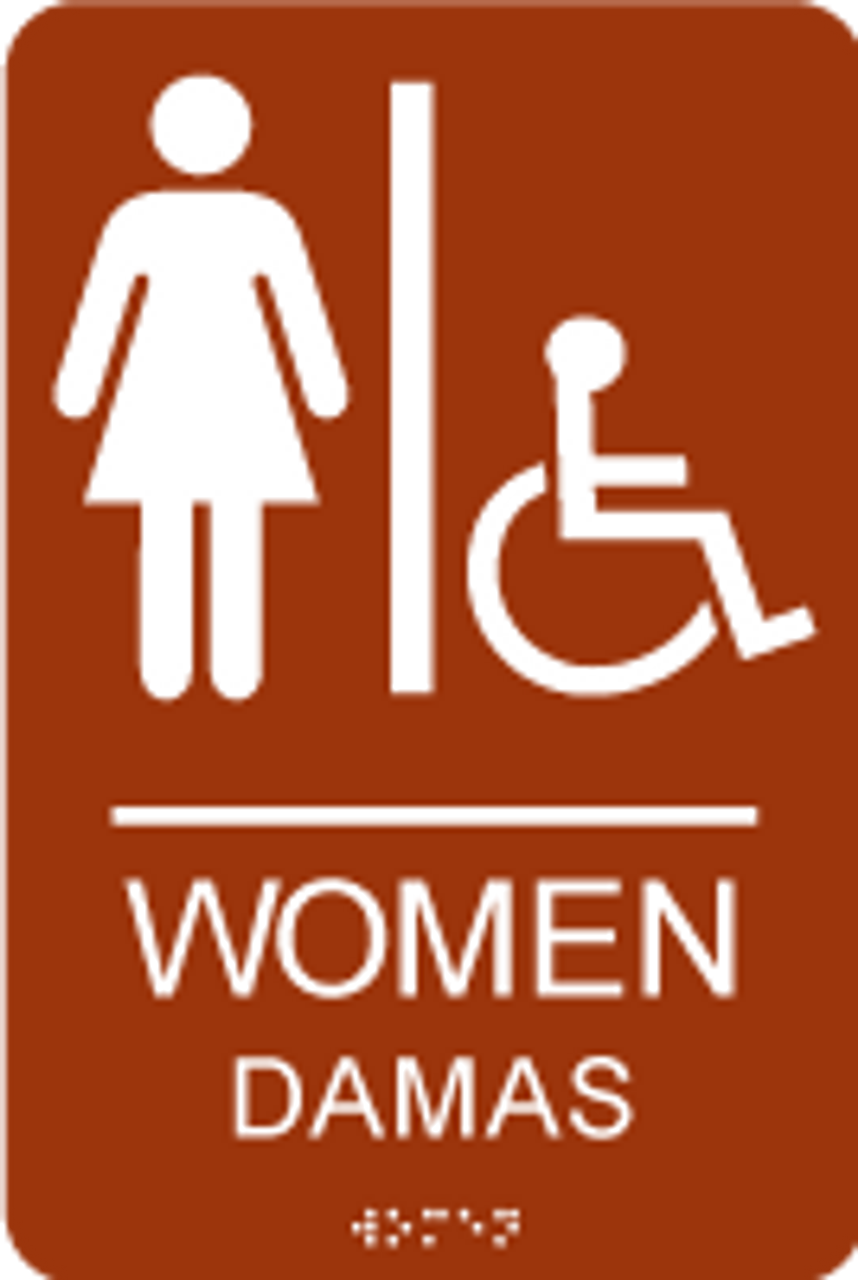Women Spanish ADA Restroom Sign