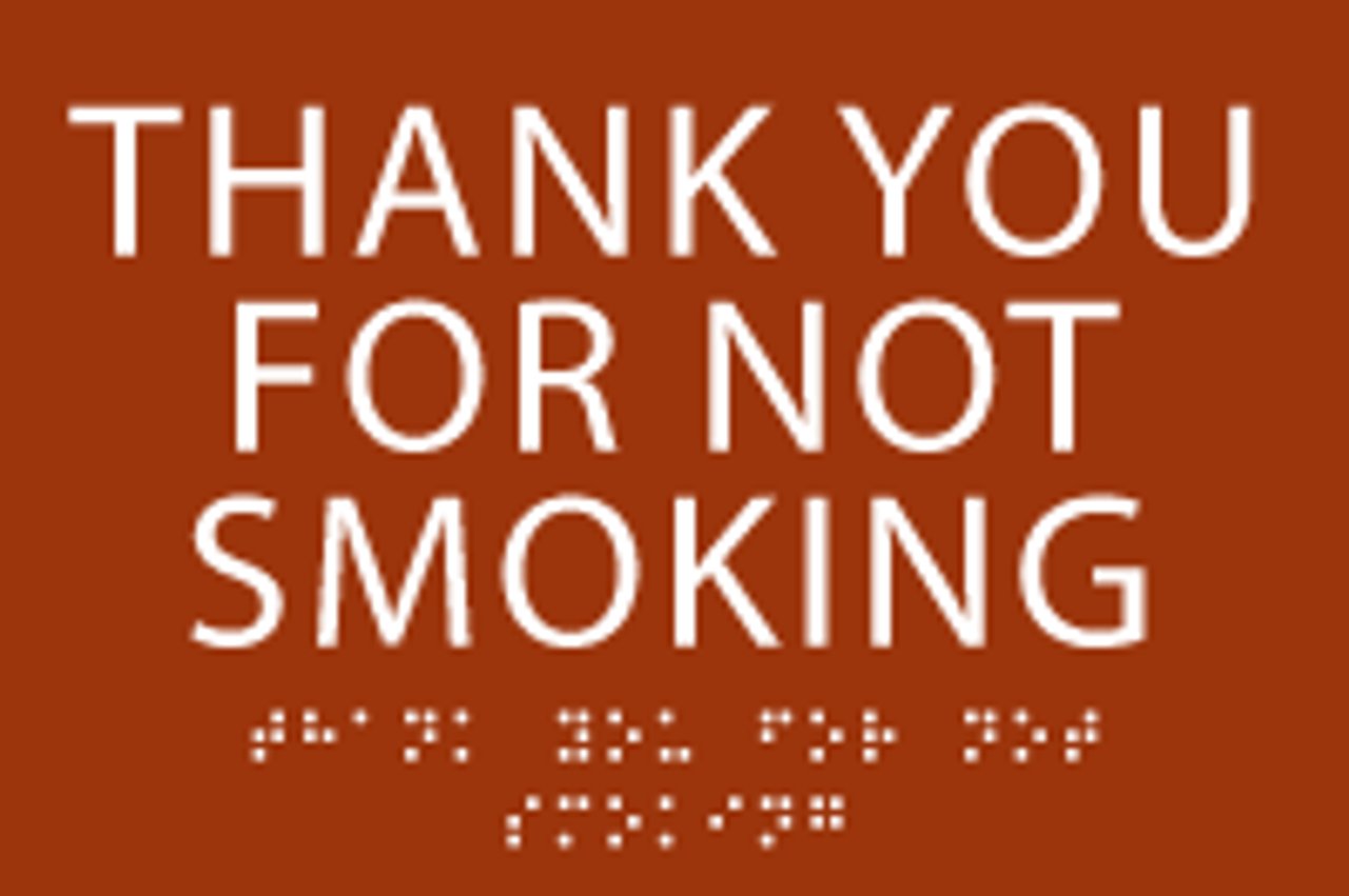 Thank You For Not Smoking ADA Sign