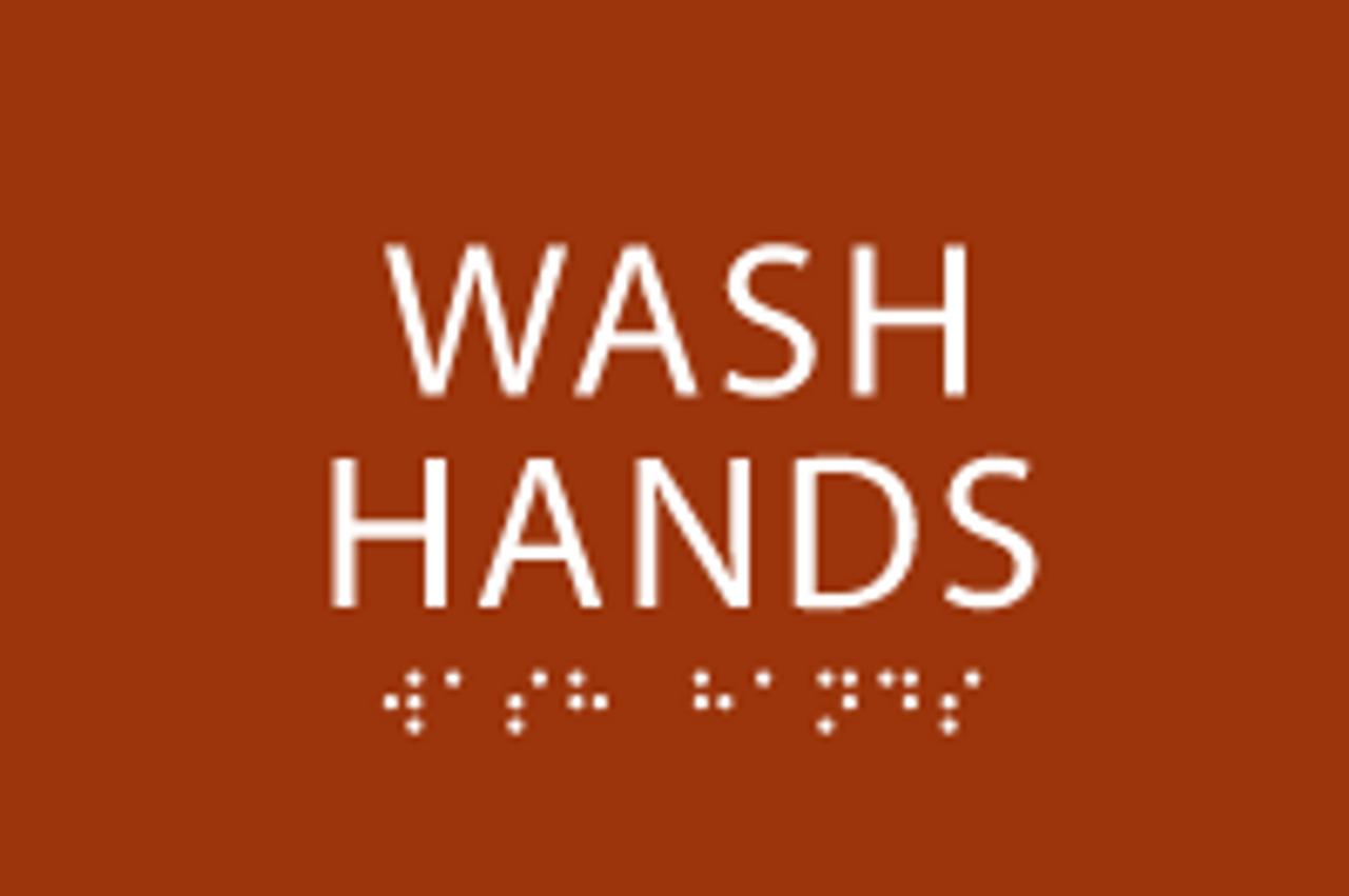 Wash Hands ADA Sign