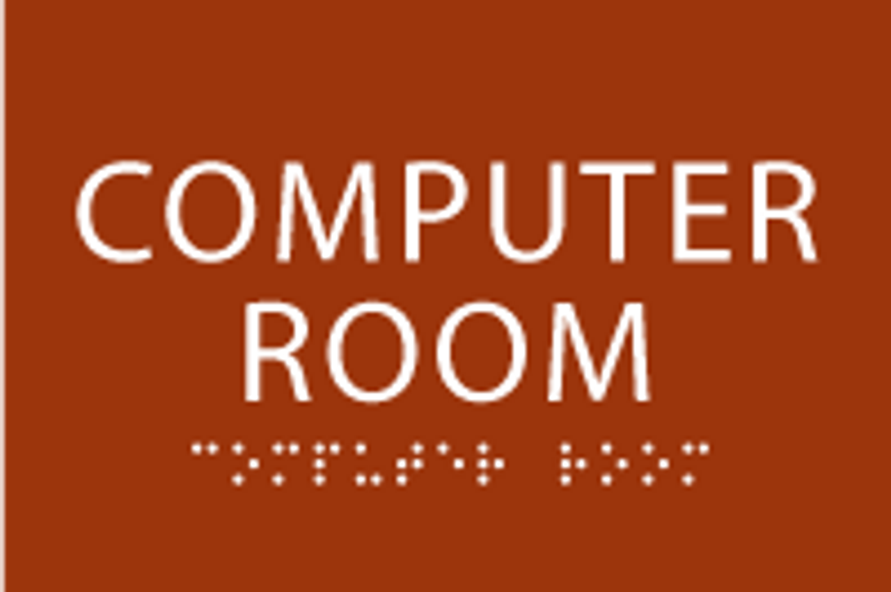 Computer Room ADA Sign