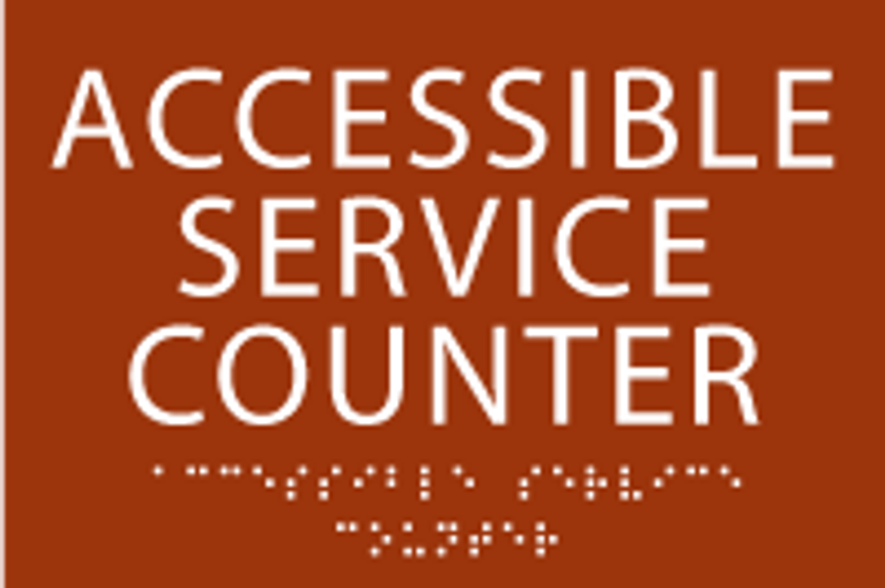 Accessible Service Counter ADA Sign