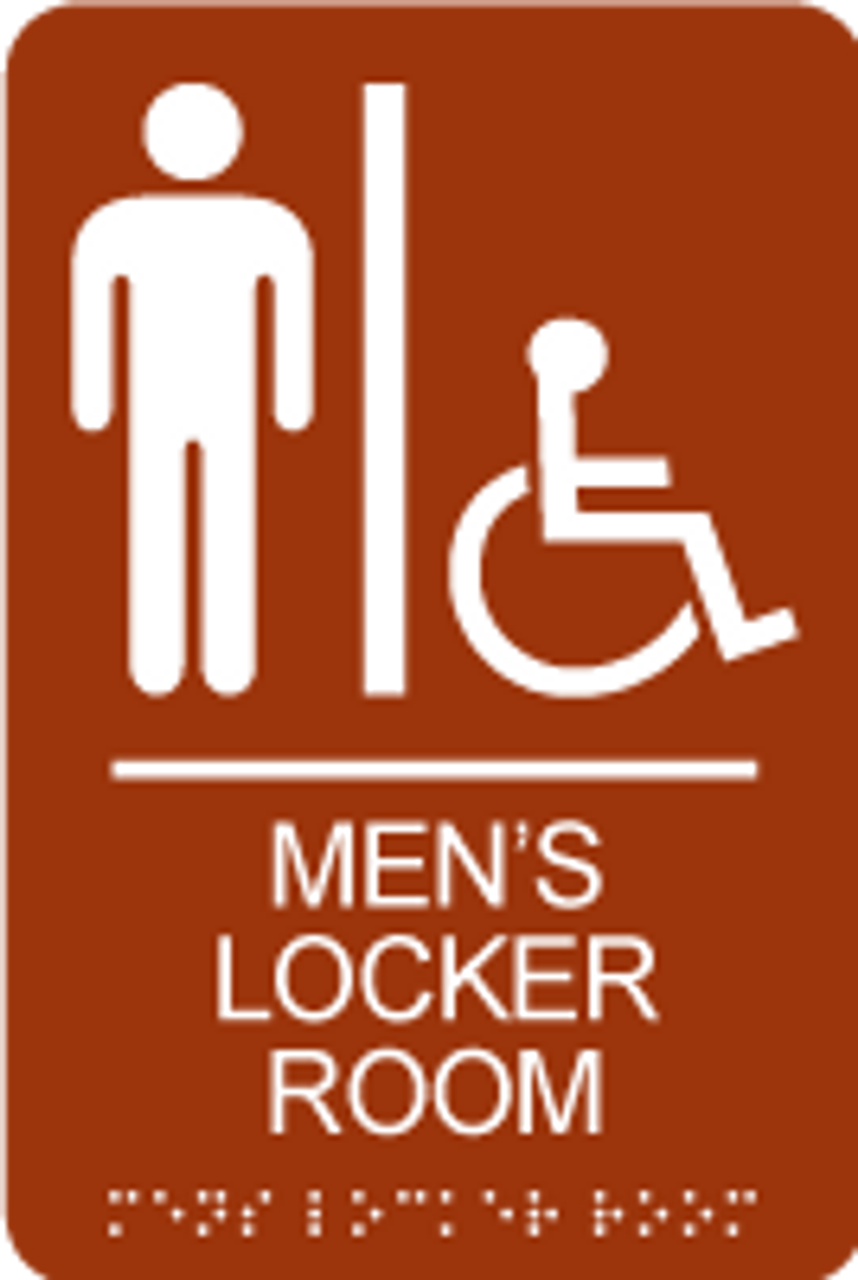 Men's Accessible Locker Room ADA Sign