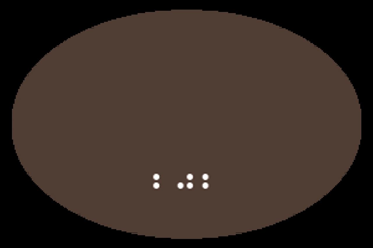"ADA Oval Room Number Sign - 5"" x 3.25"""