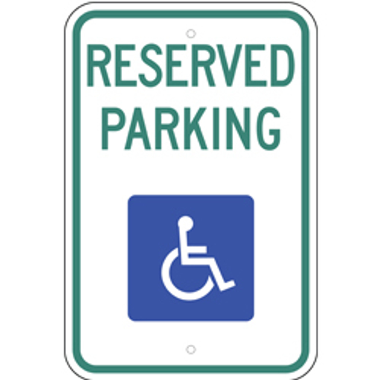 Handicap Reserve Parking Sign