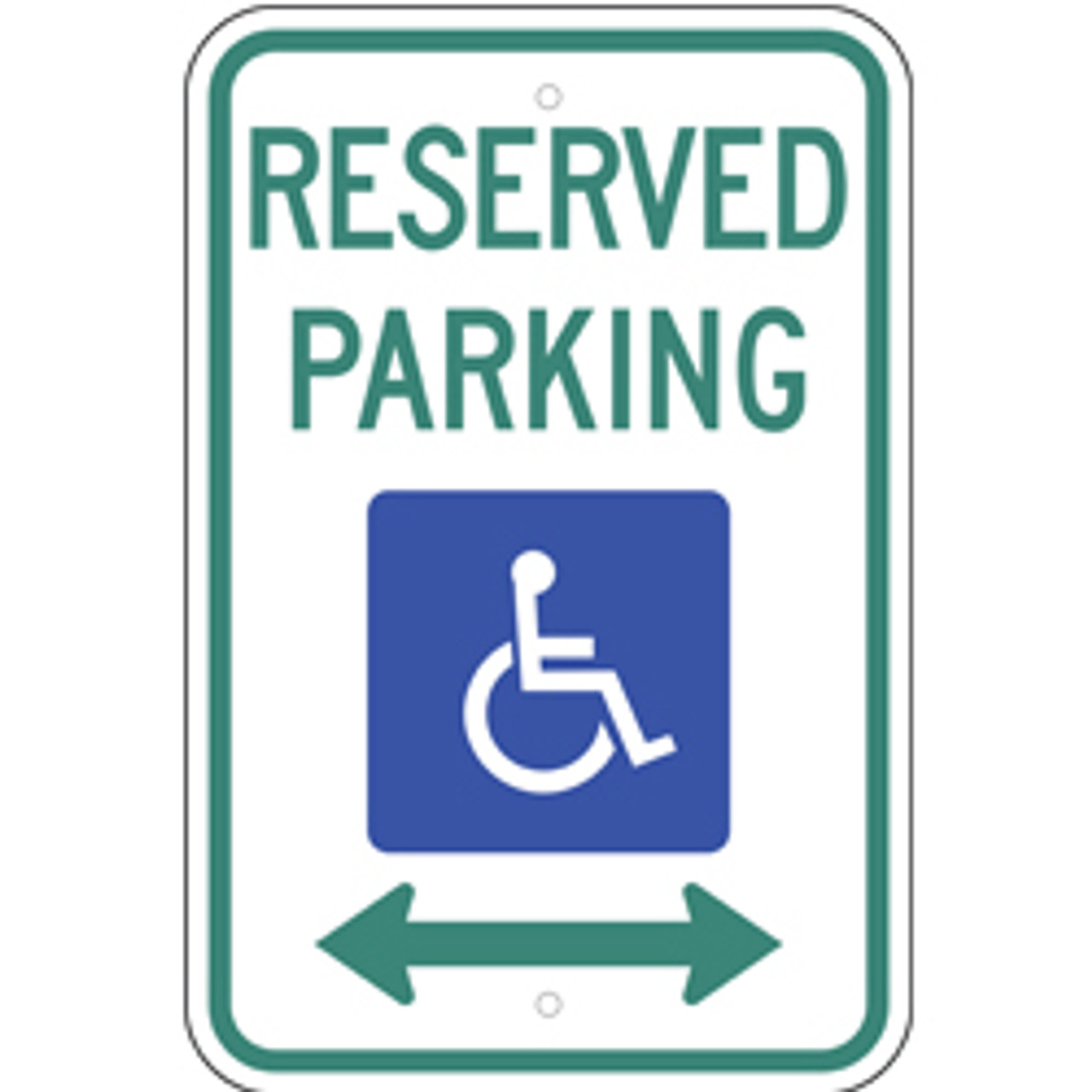 Reserved Handicap Dual Arrow Parking Sign