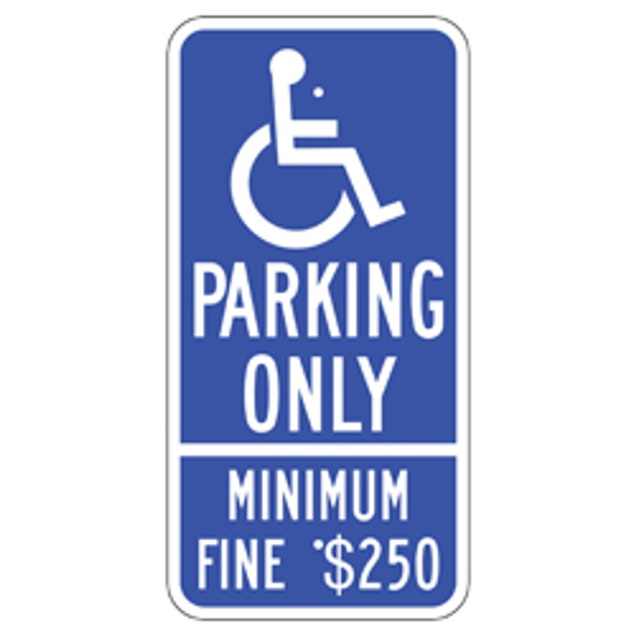 California Handicap Parking Only Sign