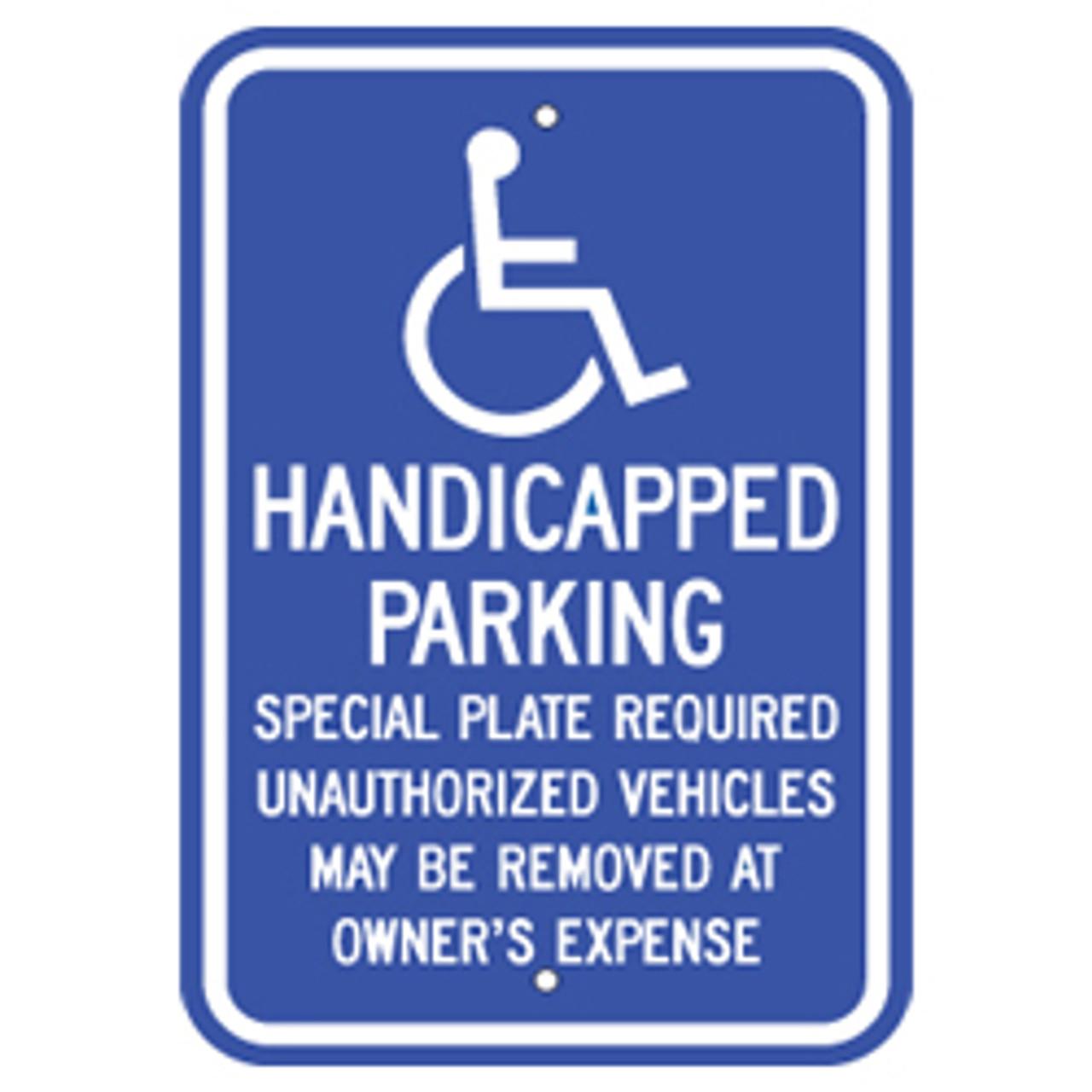 Massachusetts Handicap Parking Sign