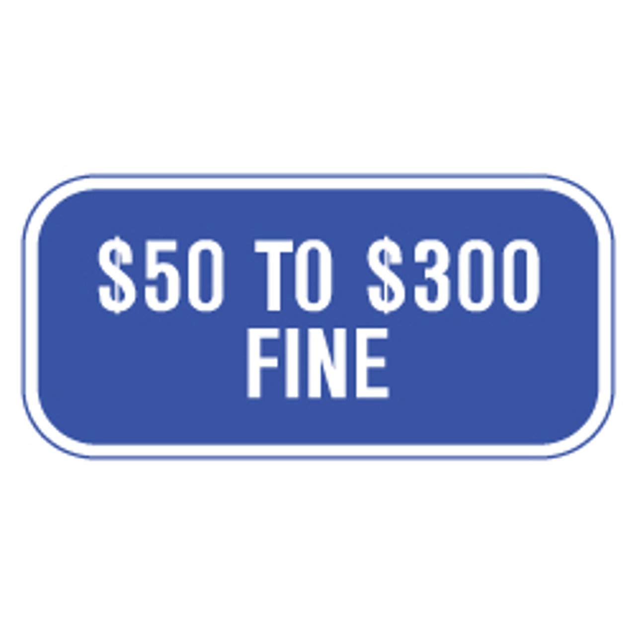 Missouri Handicap Parking Fine Sign - Blue