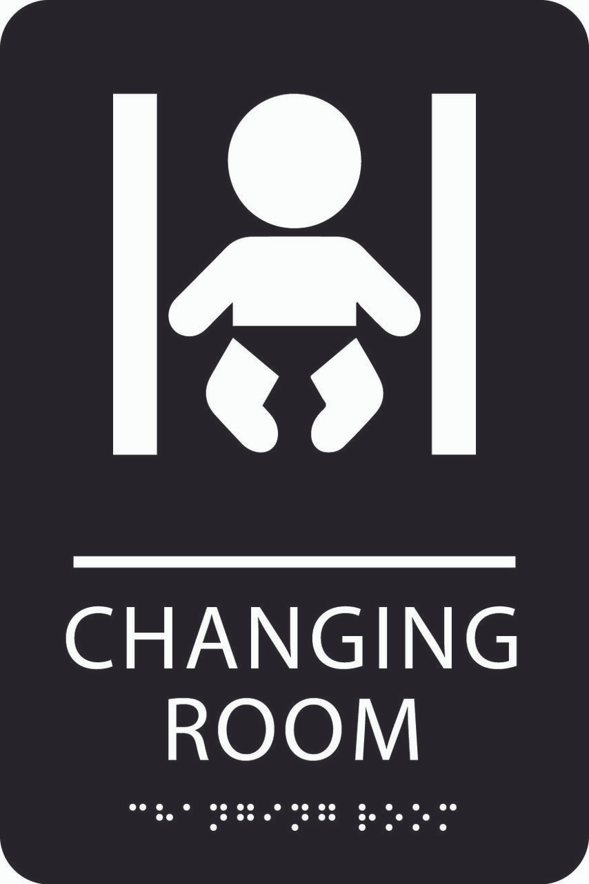 Braille ADA Changing Room Sign