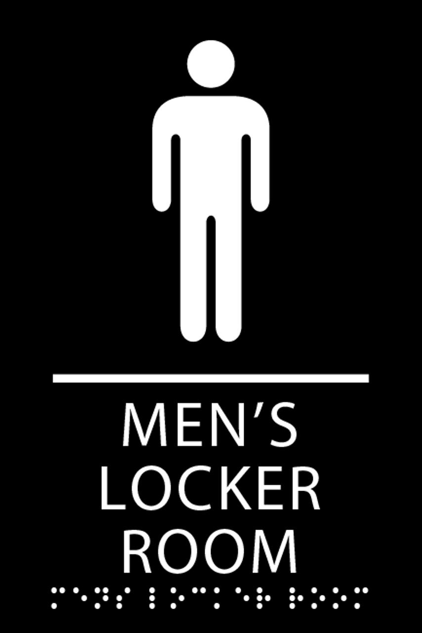 Mens Locker Room Ada Sign-7668