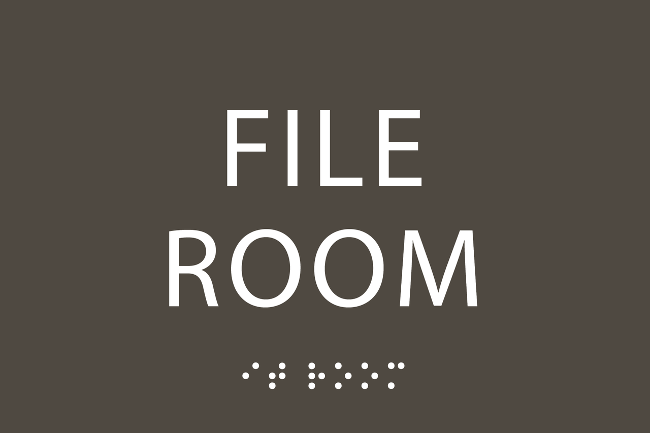 File Room ADA Sign