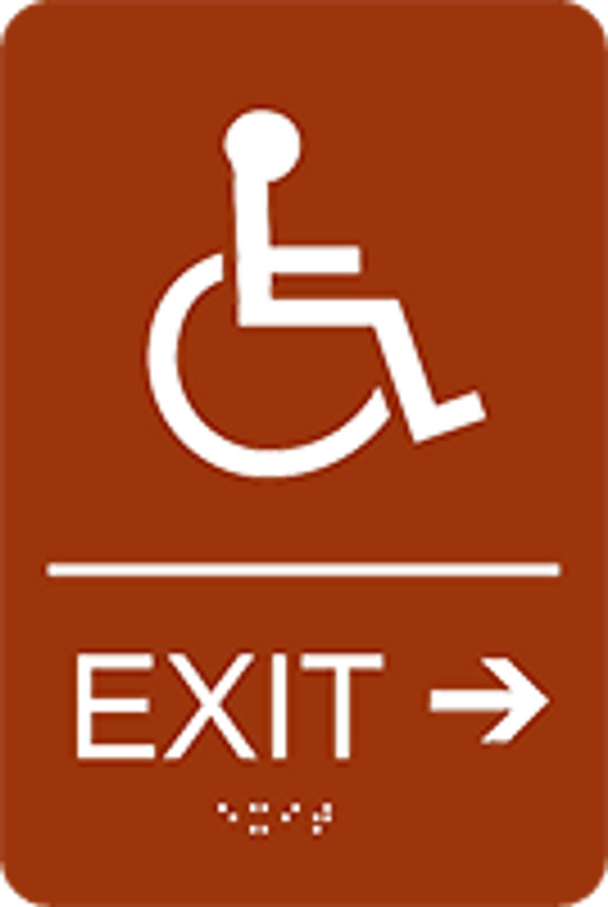 "Exit Right ADA Sign - 6"" x 9"""