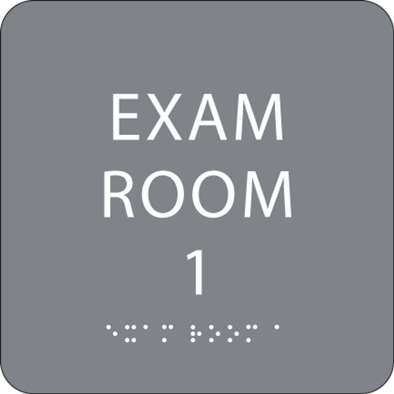 "Exam Room 1 ADA Sign - 6"" x 6"""