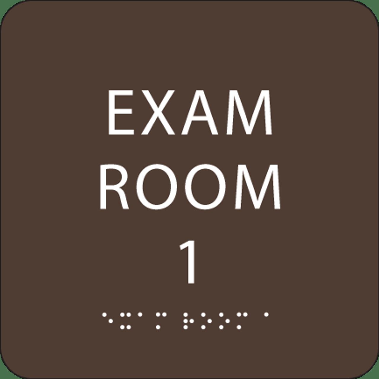 Dark Brown Exam Room 1 ADA Sign